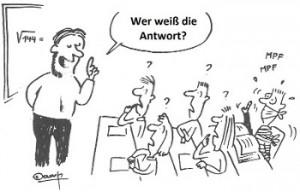 Karikatur-Antwort